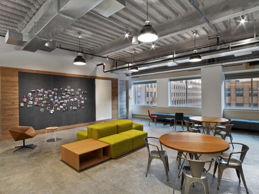 Văn phòng hiện đại thể hiện sự trẻ trung, năng động