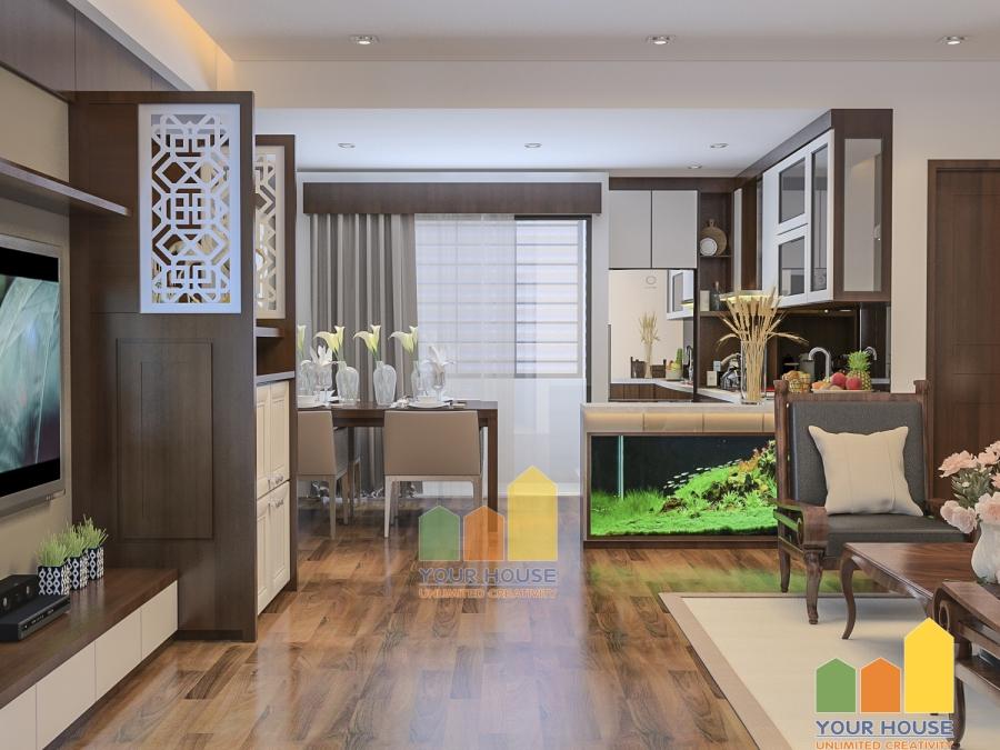 Thiết kế nội thất chung cư Nguyễn Đức Cảnh