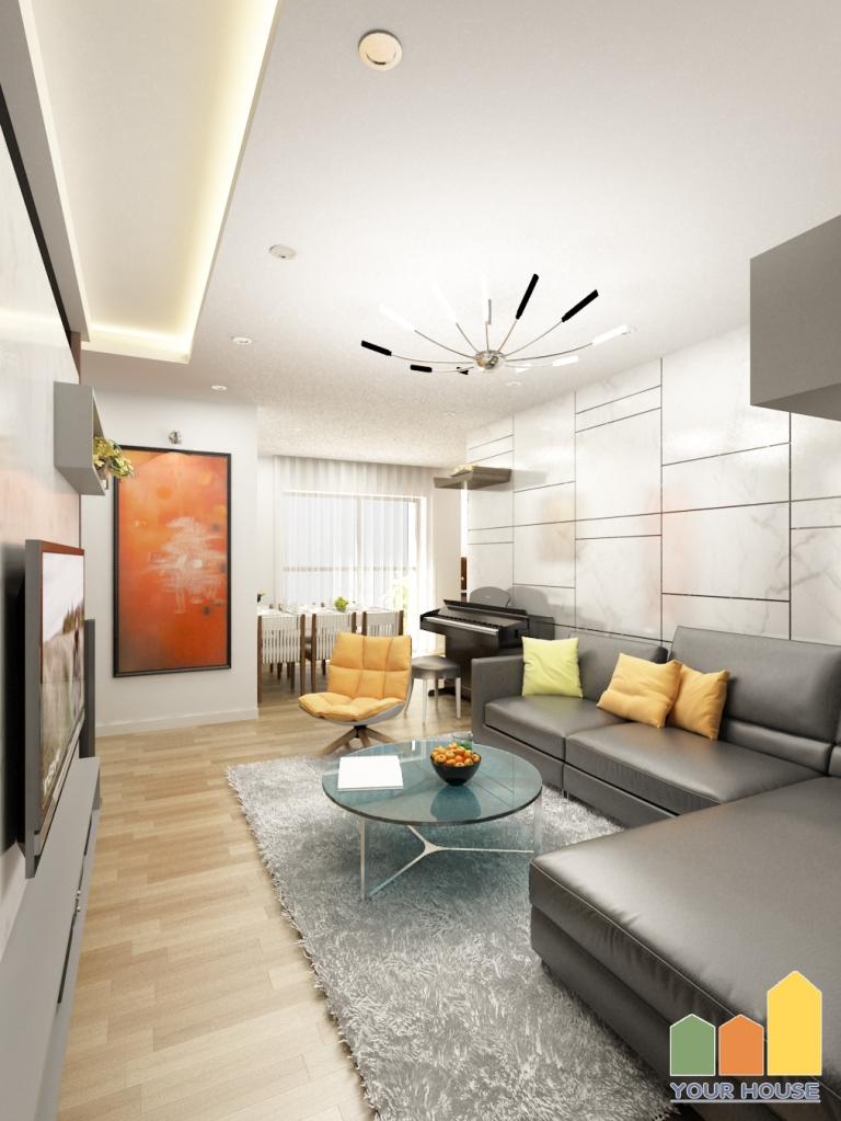 Mẫu thiết kế nội thất chung cư tại Hà Nội